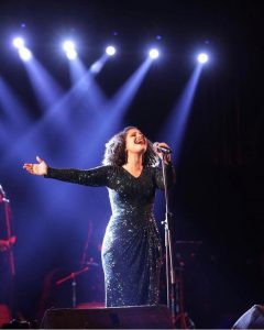 The SUPERSTAR NESMA MAHGOUB AT THE NEW OPEN AIR THEATRE AT CAIRO FESTIVAL CITY